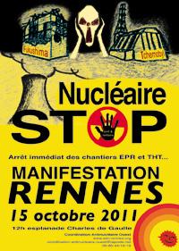 Rennes : Entre 8.000 et plus de 15.000 manifestants anti-nucléaire